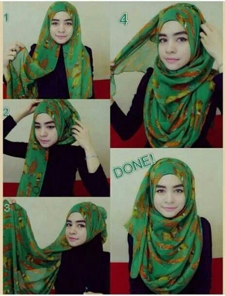 Hijab shawl tutorial