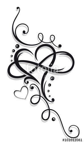 Herz, Valentinstag, Unendlichkeit. Heart, Valentines Day, infinity loop. © Chri…