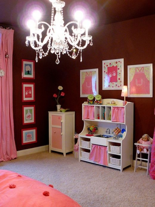 Girl's room with Chandeliers