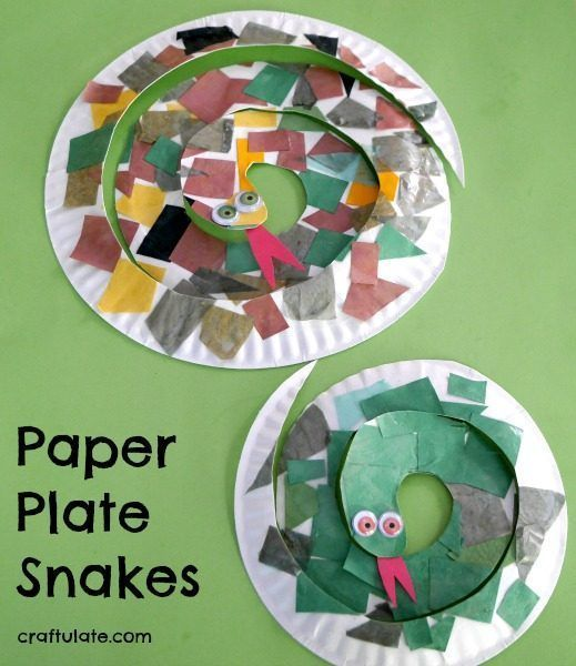 Paper Plate Snakes - a fun and frugal craft for kids to make