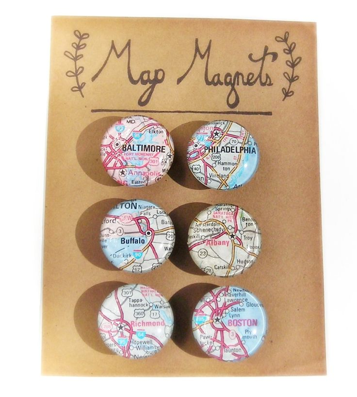 Northeast Cities Map Magnet Set by Jess Vartanian Illustration & Design on Scoutmob