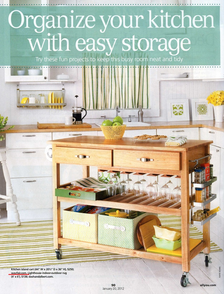 Organize your kitchen with easy storage!    All You magazine