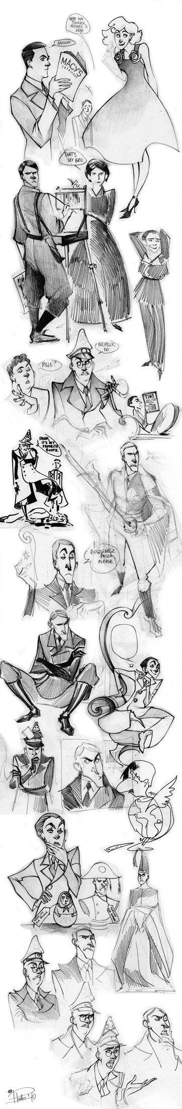 some bad guys sketch dump by Phobs on DeviantArt