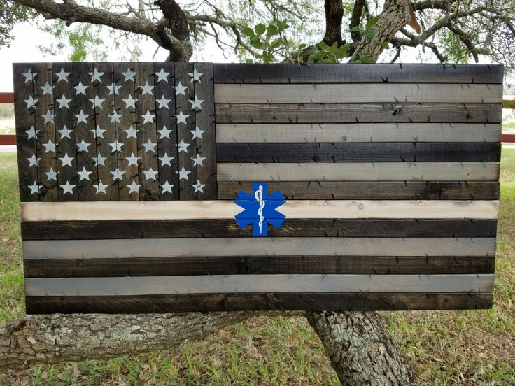Thin White Line EMS Wooden Rustic American Flag with the star of life by CowboyCapitalSigns on Etsy https://www.etsy.com/listing/473724715/thin-white-line-ems-wooden-rustic