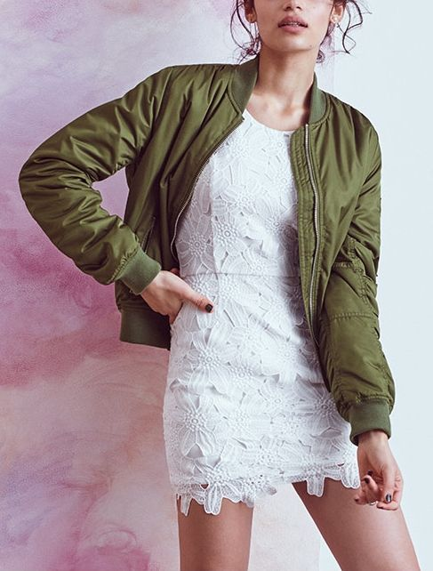 Spring fashion inspiration - feminine floral dress paired with a great jacket.