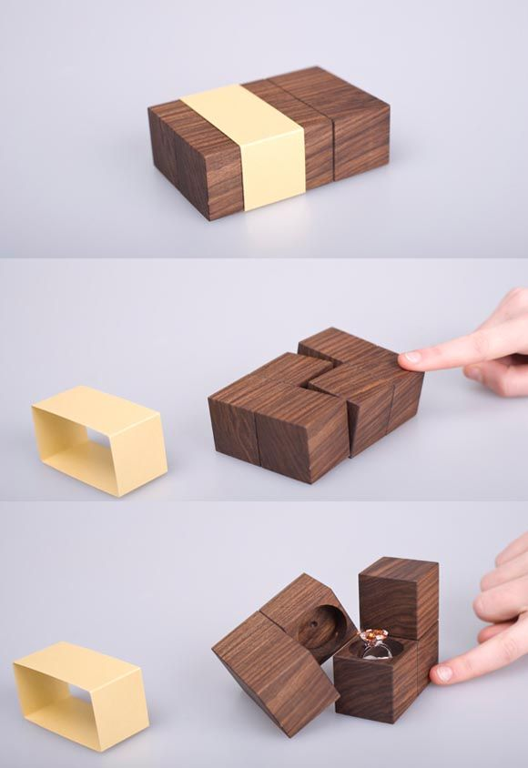 A Unique Engagement Ring Box 25 Stunning Package Design Ideas