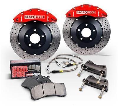 Disc Brake Pad, Caliper and Rotor Kit-Black Caliper / Drilled Coated Rotor Front