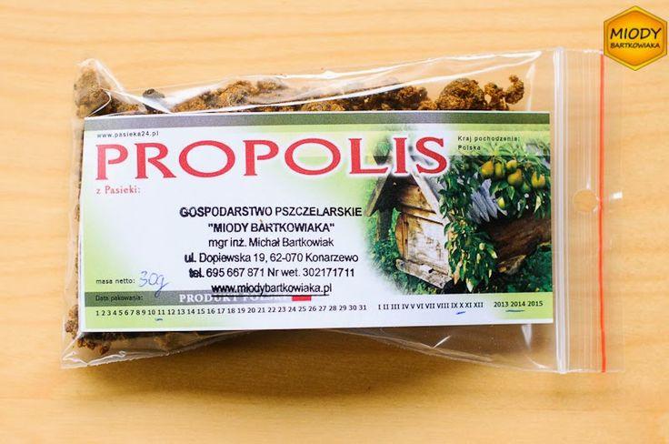 Opakowanie 30g propolisu wystarcza do zrobienia słoika nalewki propolisowej.