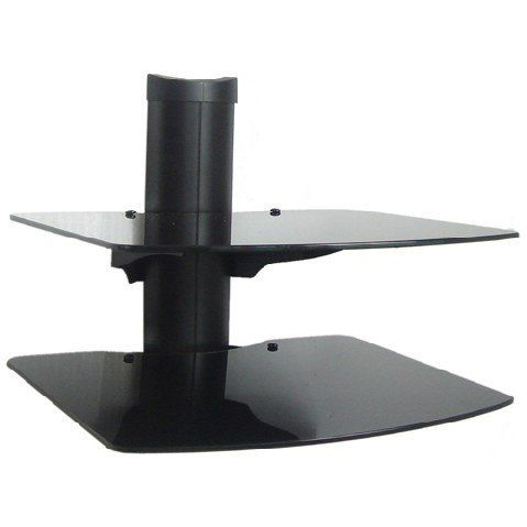 2 Shelf Wall Mount Bracket For Lcd Led And Plasma Tv With