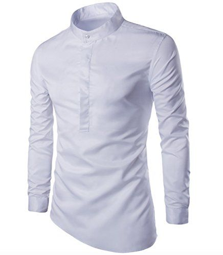 wslcn homme chemise col mao