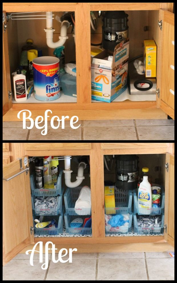 wonderful Under Kitchen Sink Organizing Ideas #8: 17 Best ideas about Kitchen Sink Storage on Pinterest | Under kitchen sink  storage, Under kitchen sinks and Bathroom sink organization