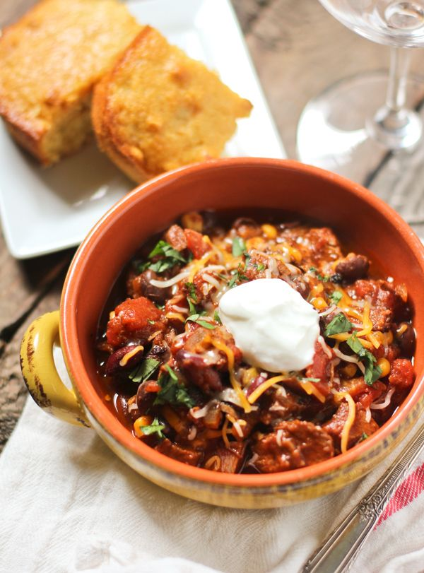 Perfect for all the times Trav makes a brisket and we have tons of leftovers! Smoked Beef Brisket Chili