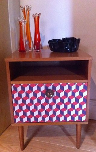 Funky Retro Vintage Kitsch Bedside Cabinet Cupboard Table Unusual Style  60s 70s  Retro FurniturePaint  299 best Cabinets Chests of Drawers Dressers images on Pinterest  . Red White And Blue Painted Furniture. Home Design Ideas