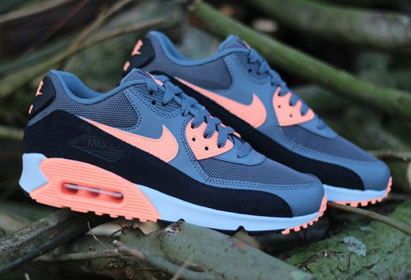 "Nike WMNS Air Max 90 Essential ""Dark Grey/Sunset Glow/Black/Pure Platinum"""