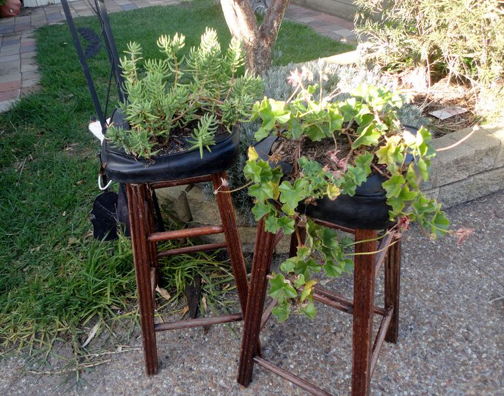 Thought it better to do this with my old stools instead of throwing them out.