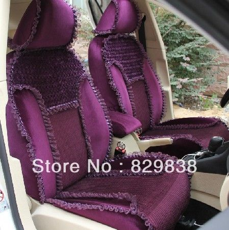 design for womens lady girl car accessories custom made lace purple seat cover forall cars vw Scirocco audi A1 beetle(China (Mainland))