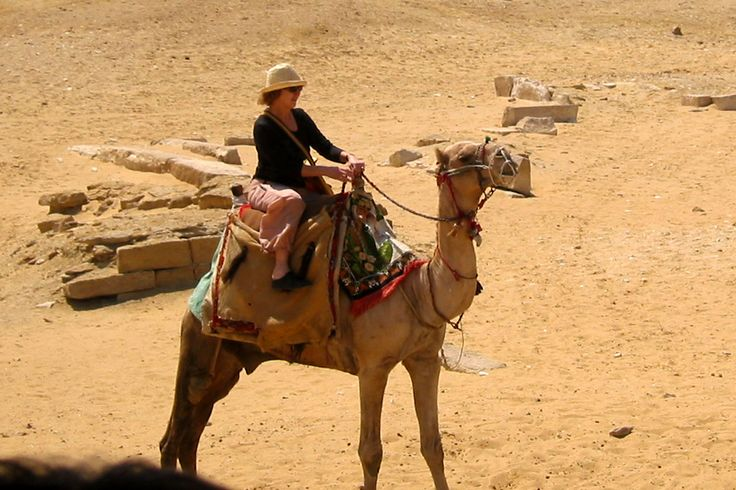 A camel ride to the pyramids seemed the right thing to do.