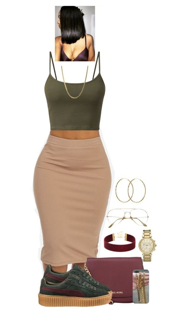 """Untitled #2086"" by basnightshine1015 ❤ liked on Polyvore featuring MICHAEL Michael Kors, Puma, Michael Kors and Pernille Corydon"