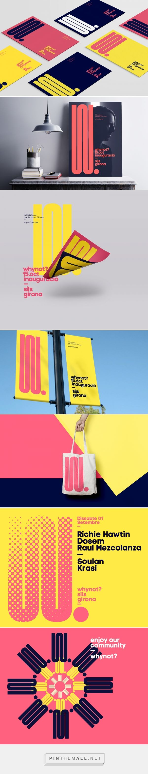 WHYNOT NightClub Identity on Behance... - a grouped images picture - Pin Them All
