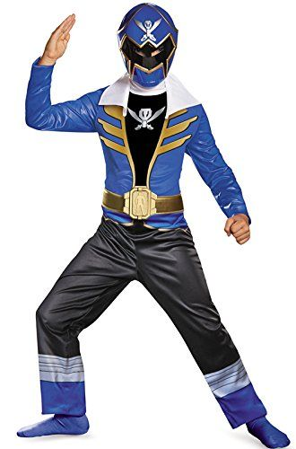 Disguise Saban Super MegaForce Power Rangers Blue Ranger Classic Boys Costume Large1012