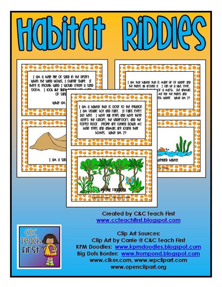 Habitats Riddles Cards game