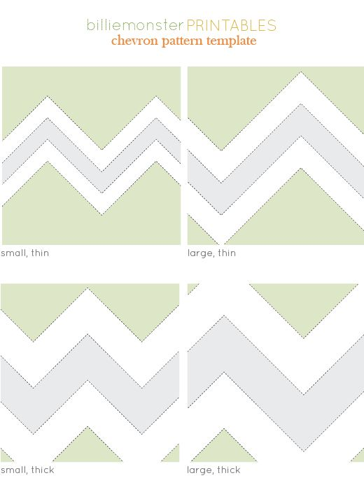Free chevron template. I've seen some great chevron crafts out there that I'm eager to copy.