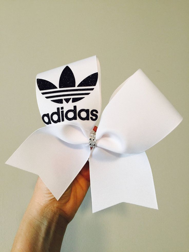 A personal favorite from my Etsy shop https://www.etsy.com/listing/560232613/adidas-black-and-white-trefoil-cheer-bow