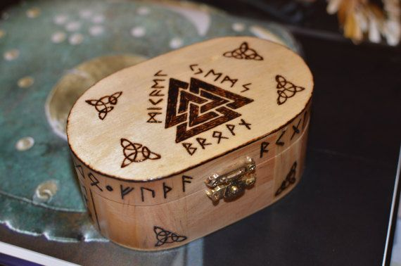 Hey, I found this really awesome Etsy listing at https://www.etsy.com/listing/498962264/valknut-jewelry-box-odins-symbol-box