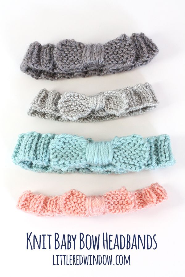 Knit Bow Baby Headband   littleredwindow.com   A quick easy and FREE knitting pattern for your little one!