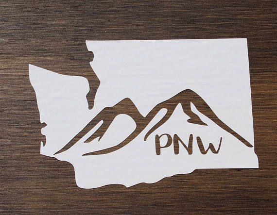 Decals Washington WA state  PNW Pacific Northwest Seattle