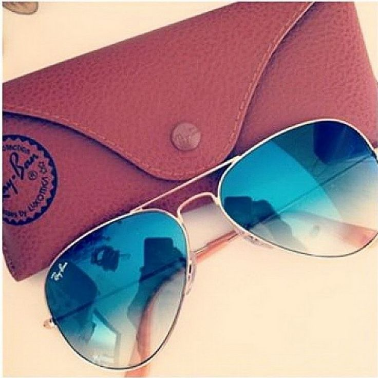 ray ban aviator degrade azul