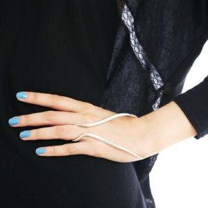 Кольцо-браслет из серебра, Телец, ручная работа