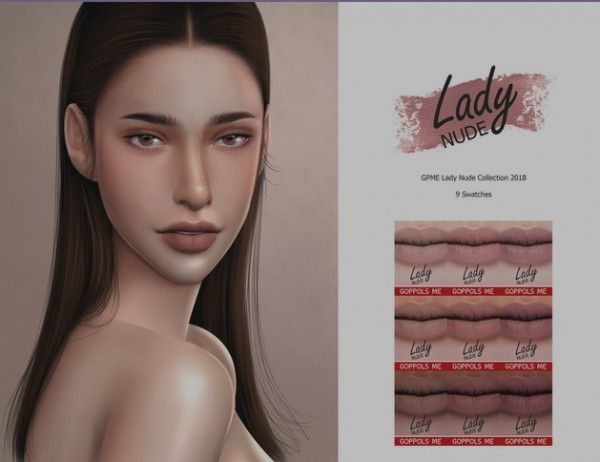 GOPPOLS Me: Lady Nude lips Collection 2018 • Sims 4