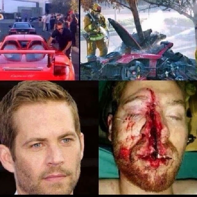 Paul Walker - Wha t a terrible, sad way to end up.