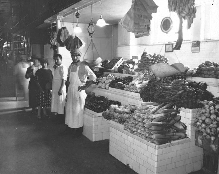 Fruit and Vegetable Stand in Center Market