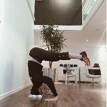 Personal Trainer Daniel at BODYTEC Newlands showing off his balancing skills. #balancing #skills #core #motivation #trainer #coach #trainsmarter #corestrength #fitgoals #handstand #fitgoals #Newlands #bodytecsa. www.bodytec.co.za