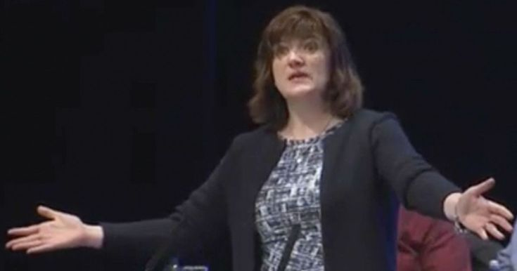 Watch teachers boo Tory Education Secretary Nicky Morgan as she reveals academy plans for all schools - This morning she became the first Tory Education Secretary to address the annual NASUWT conference since 1997, but it did not go well