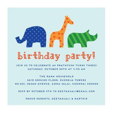 kids birthday party invitation card Josemulinohouseco