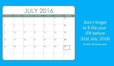 Don't forget to E-file your ITR before 31st July, 2016. Be safe. Be Responsible.  www.sbbjbank.com  #SBBJJaipur #Onlinebanking #Bankingservice #financialservice #eticket