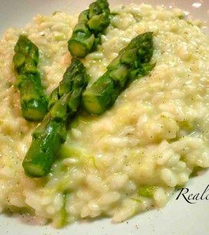 risotto asparagi in pentola a pressione