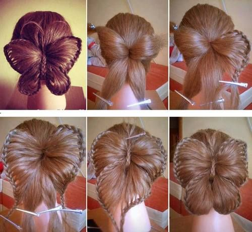 How to have butterfly hair.
