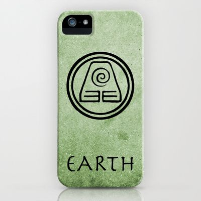 Avatar Last Airbender Elements - Earth iPhone Case by briandublin - $35.00    Earth, Fire, Water, Air. What kind of bender are you?     Avatar Fans, now you can show everyone what element you're reppin' with these iPhone cases! Available for all iPhone Models as a case or a skin.