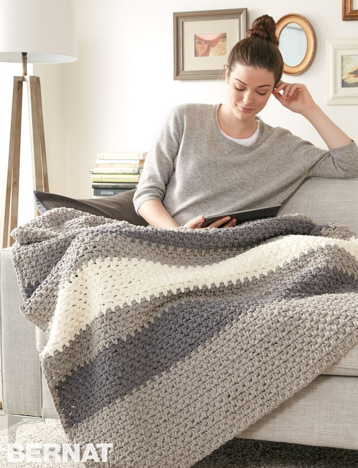 Yarnspirations.com - Bernat Hibernate Blanket - Patterns | Yarnspirations | crochet | afghan | free pattern | Bernat Blanket