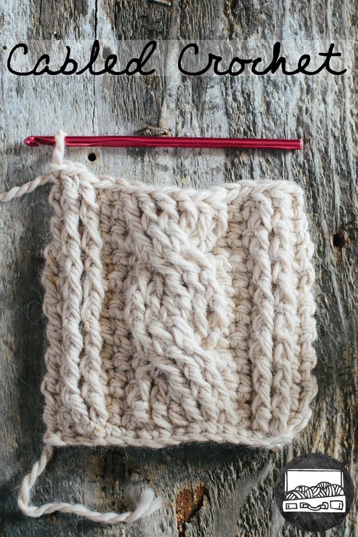 Cabled Crochet Basics, tutorial by slugs on the refrigerator.