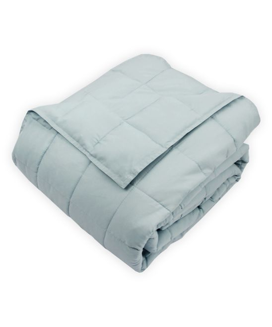Light Blue Soft-Touch Quilted Microfiber Blanket