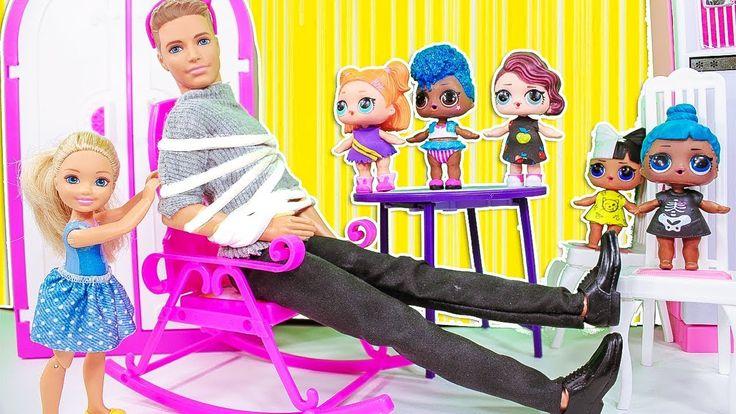 ПРАНК НАД ПАПОЙ! Мультики лол и мама куклы Барби, Подруги ...