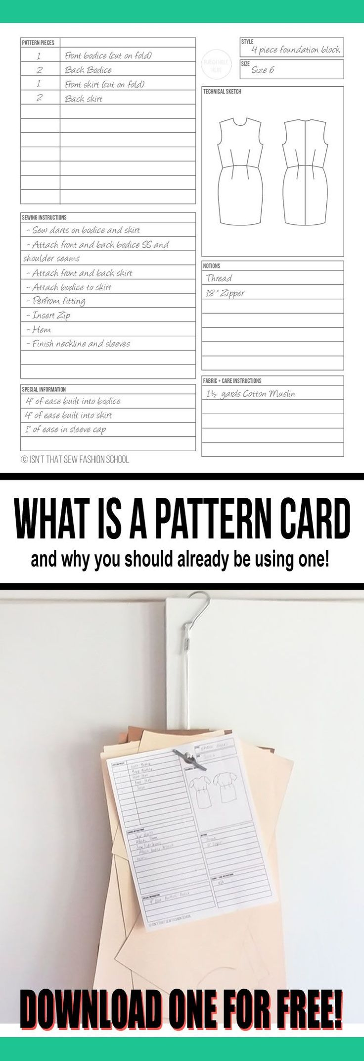 Find out what a pattern card is and why you should already be using one!