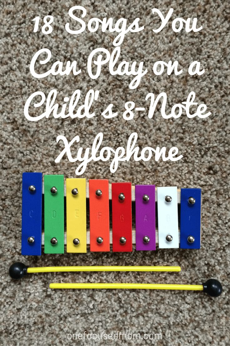 18 songs you can play on a child's 8-note xylophone || onefocusedmom.com