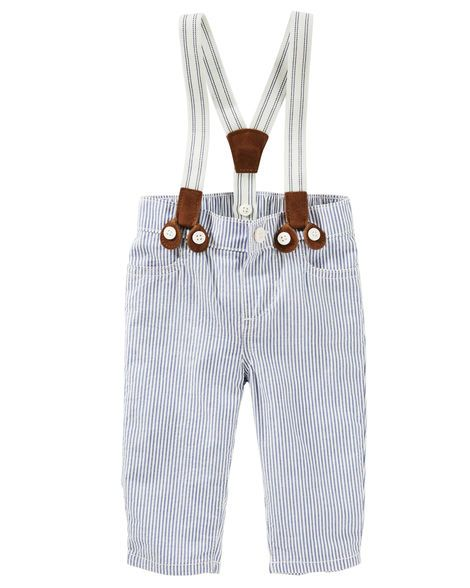 Baby Boy Seersucker Suspender Pants from OshKosh B'gosh. Shop clothing & accessories from a trusted name in kids, toddlers, and baby clothes.