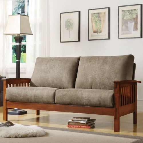 This Beautiful Mission Style Sofa Features A Solid Wood